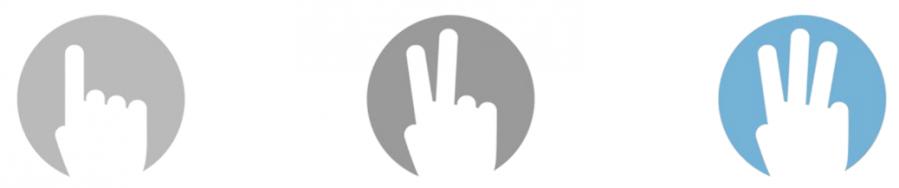 3 dedos
