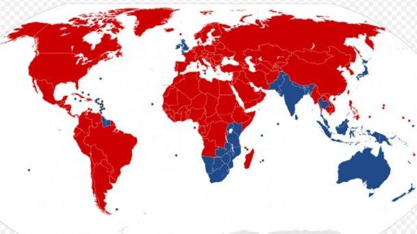 paises circulan por la izquierda