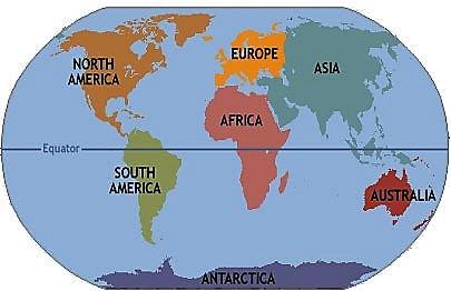 continentes ingles